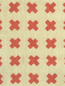 4130-09 CROSS CHECK New Shrimp on Tint Quadrille Fabric