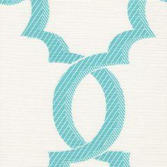 303700F-02 EL CID Turquoise on Light Tint Quadrille Fabric