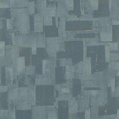 EW15018-615 CUBIST Teal Threads Wallpaper