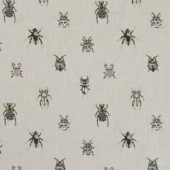 F1095/01 BEETLE Charcoal Natural Clarke & Clarke Fabric