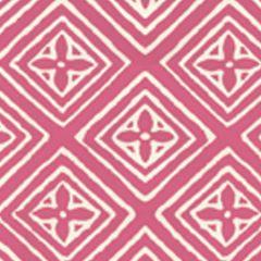2490-51WP FIORENTINA Coral On Almost White Quadrille Wallpaper