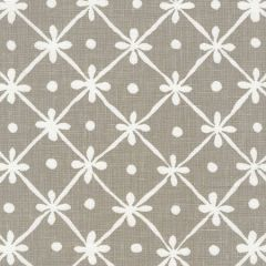 9955W-22 GATE HOUSE REVERSE ONE COLOR Gray On White Oyster Quadrille Fabric