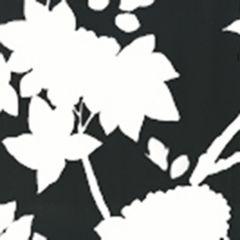 306189W HAPPY GARDEN BACKGROUND Black On White Quadrille Wallpaper