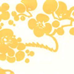 3010-02AWP HAWTHORNE New Ochre On Almost White Quadrille Wallpaper