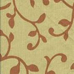 HC1220T-01 DAMASCENE Salmon on Tan Quadrille Fabric