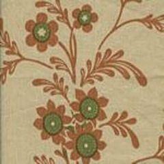 HC1260T-01 LORRAINE Salmon Fig on Tan Quadrille Fabric