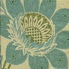 HC1260T-06 LORRAINE Turquoise Green on Tan Quadrille Fabric