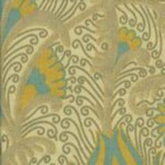 HC1270T-02 CONTESSA Multi Blue Yellow Taupe Quadrille Fabric