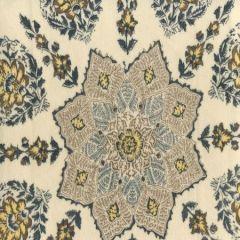 HC1490VV-04 PERSEPOLIS On Venetian Velvet Brown Navy on Cream Quadrille Fabric