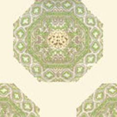 HC1700W-02WP MEDALLION Fig Taupe On Cream Quadrille Wallpaper