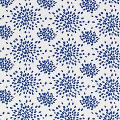 HN 000B F1020 FIREWORKS Blue On White Scalamandre Fabric