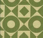 HC1370T-04 CIRCLES & SQUARES Apple on Tan Quadrille Fabric