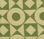 HC1400T-04 CIRCLES & SQUARES REVERSE Apple on Tan Quadrille Fabric