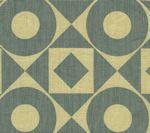 HC1400T-03 CIRCLES & SQUARES REVERSE Vapor on Tan Quadrille Fabric