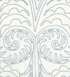 HC1236W GYPSY DANCE Custom Blue on Off White Quadrille Fabric