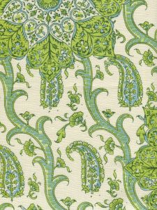 HC1970C-06 KASHMIR EXOTIQUE Greens  Quadrille Fabric