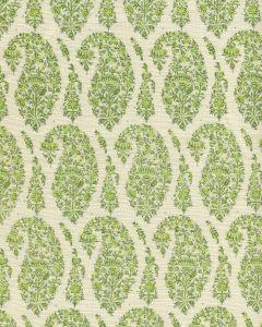 HC1960C-08 KASHMIR PAISLEY PETITE Green Quadrille Fabric