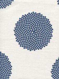 HC1350-09 MYSTERY Navy on Ivory Quadrille Fabric
