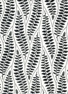 HC1860-09 WOODLAND Black on Tint Quadrille Fabric