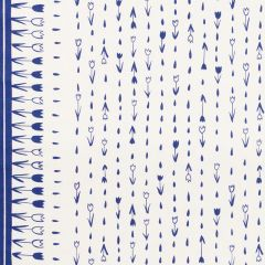 178200 TULIP PARADE Navy Schumacher Fabric