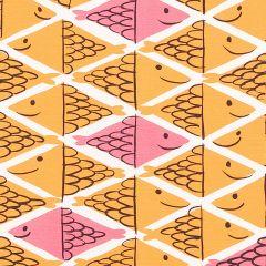 178210 FISH SCHOOL Orange Pink Schumacher Fabric