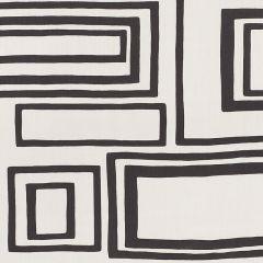 178222 LARGE OPEN BOXES Black Schumacher Fabric