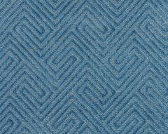 27060-001 MEANDER VELVET Denim Scalamandre Fabric