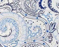 27124-002 MALABAR PAISLEY EMBROIDERY Porcelain Scalamandre Fabric