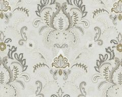 27164-002 AVA DAMASK EMBROIDERY Mineral Scalamandre Fabric