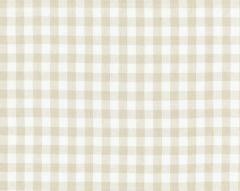27166-002 SWEDISH LINEN CHECK Flax Scalamandre Fabric