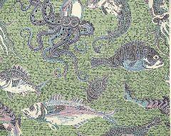SC 0002WP81545 MIKONOS Blue Green Scalamandre Wallpaper