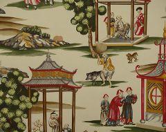 SC 0002WP81584A SHANGHAI Multi On Tea Stain Scalamandre Wallpaper