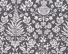 27032-003 SHALIMAR EMBROIDERY Charcoal Scalamandre Fabric