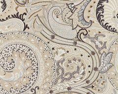27124-003 MALABAR PAISLEY EMBROIDERY Flax Scalamandre Fabric