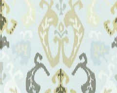 27172-003 MANDALAY IKAT EMBROIDERY Mineral Scalamandre Fabric