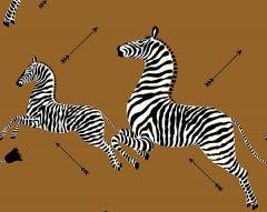 SC 0003WP81388M ZEBRAS Safari Brown Scalamandre Wallpaper