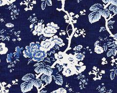 16602-004 ASCOT LINEN PRINT Indigo Scalamandre Fabric