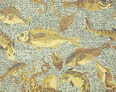 SC 0004WP81545 MIKONOS Ochres Aqua Scalamandre Wallpaper