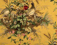 16310-005 EDWIN'S COVEY Multi On Mustard Scalamandre Fabric