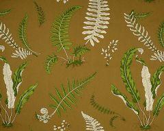 16425-005 ELSIE DE WOLFE Greens On Brown Scalamandre Fabric