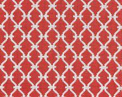27009-006 TRELLIS WEAVE Poppy Scalamandre Fabric