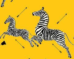 SC 0006WP81388M ZEBRAS Yellow Scalamandre Wallpaper