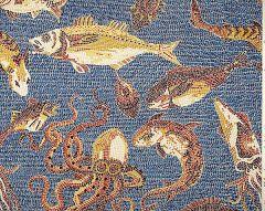 SC 0006WP81545 MIKONOS Rust Blue Scalamandre Wallpaper