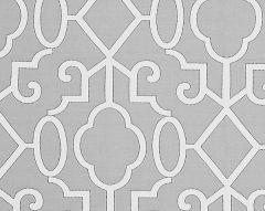 SC 0006WP88356 MING FRETWORK Silver Scalamandre Wallpaper
