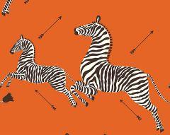 SC 0012WP81388M ZEBRAS Orange Scalamandre Wallpaper