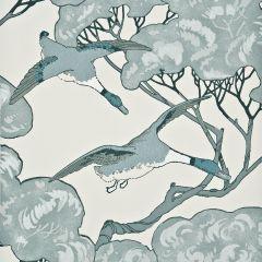 FG066-R104 FLYING DUCKS Aqua Mulberry Home Wallpaper