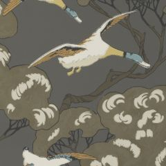 FG090-A101 FLYING DUCKS Charcoal Mulberry Home Wallpaper