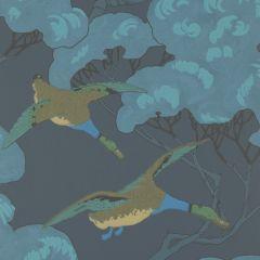 FG090-H10 FLYING DUCKS Indigo Mulberry Home Wallpaper