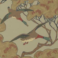 FG090-H22 FLYING DUCKS Sky Moss Mulberry Home Wallpaper