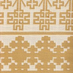 010951T ADOBE HANDSTITCH Camel Ecru Quadrille Fabric
